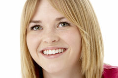 Studio Portrait Of Smiling Teenage Girl Royalty Free Stock Photo