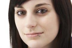 Studio Portrait Of Smiling Teenage Girl Stock Photography
