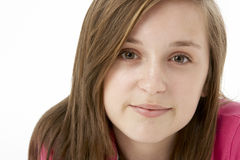 Studio Portrait Of Smiling Teenage Girl Royalty Free Stock Photography