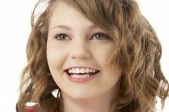 Studio Portrait Of Smiling Teenage Girl Royalty Free Stock Images
