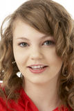 Studio Portrait Of Smiling Teenage Girl Royalty Free Stock Image