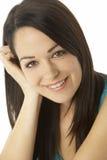 Studio Portrait Of Smiling Woman Stock Image