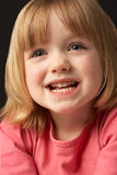 Studio Portrait Of Smiling Young Girl Stock Images