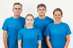 Studio Portrait Of Staff Wearing Uniform Against White Backgroun Royalty Free Stock Photo