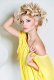 Studio portrait of a stunning beauty blonde. Stock Image
