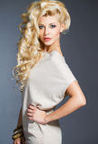 Studio portrait of a stunning beauty blonde. Royalty Free Stock Photography