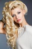 Studio portrait of a stunning beauty blonde. Stock Photo