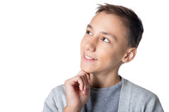 Studio portrait of teenage boy Royalty Free Stock Images