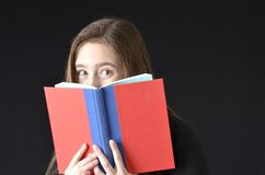 Open book peek royalty free stock photography