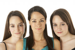 Studio Portrait Of Three Young Women Royalty Free Stock Image