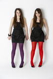 Studio Portrait Twin Teenage Girls Royalty Free Stock Photos