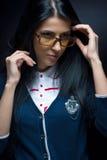 Studio portrait of a very beautiful and stylish brunette Stock Photography