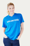 Studio Portrait Of Woman Wearing Volunteer T Shirt Royalty Free Stock Photography