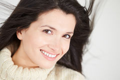 Studio Portrait Of Woman Wearing Warm Winter Clothes Royalty Free Stock Image