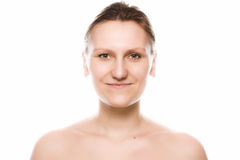 Studio portrait of young adult women Royalty Free Stock Photo