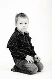 Studio portrait of young beautiful boy Royalty Free Stock Images