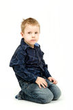 Studio portrait of young beautiful boy Stock Photos