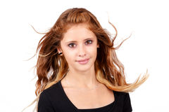 Studio portrait of young beautiful girl Stock Photos