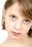 Studio portrait of young beautiful girl Royalty Free Stock Images