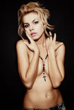 Studio portrait of young beautiful nude blonde woman Stock Photo
