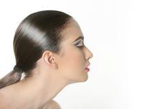 Studio portrait of young beautiful woman Stock Photo