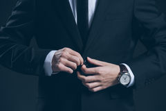 Studio portrait of young business man Stock Photo