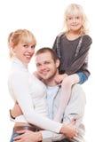 Studio portrait of young family Stock Photo