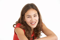 Studio Portrait Of Young Girl Royalty Free Stock Image