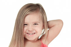 Studio Portrait Of Young Girl wearing in pink Royalty Free Stock Photography
