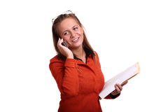Studio portrait of a young smiling business woman Royalty Free Stock Photography