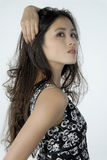 Studio portrait of a young woman. Studio portrait of a asian girl Royalty Free Stock Photo