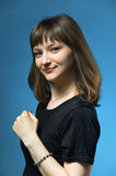 Studio portrait of young woman Royalty Free Stock Image