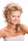 Studio portret of bride Stock Image