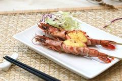 studio préparé délicieux de crevettes pris Image stock