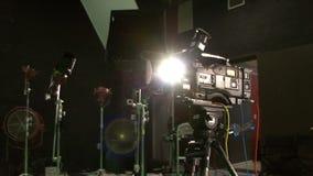 Studio professionnel d'appareil-photo banque de vidéos