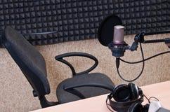 studio radiofonico Fotografie Stock Libere da Diritti