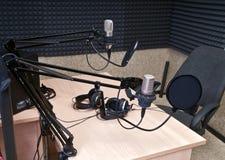 studio radiofonico Fotografia Stock Libera da Diritti