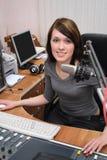 In studio radiofonico Immagini Stock