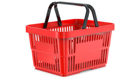 A studio render ,of an empty shopping basket. 3d illustration, isolated on white background Stock Image