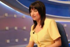 studio reportera tv Zdjęcia Stock