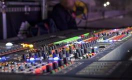 Studio sain ajustant l'équipement record photo libre de droits