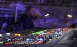 Studio sain ajustant l'équipement record photographie stock libre de droits