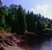 Studio scenico della baia sul lago Superiore - il Minnesota Fotografia Stock Libera da Diritti