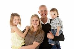 Studio schoss von der Familien-Gruppe im Studio Lizenzfreies Stockbild