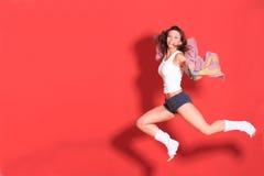 Studio schoss von der Frau lizenzfreies stockfoto