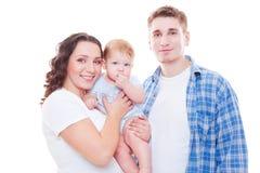 Studio schoss von der jungen Familie Lizenzfreie Stockfotografie