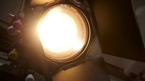 In Studio The Searchlight With Fresnel's Lens stock footage
