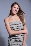 Studio shoot portrait attractive young girl royalty free stock photo
