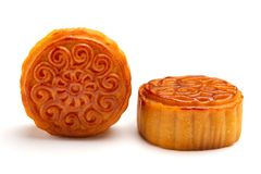 Studio shoot of traditional Chinese mooncakes Stock Images