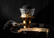 Studio shoots of an Egyptian water pipe Royalty Free Stock Photography